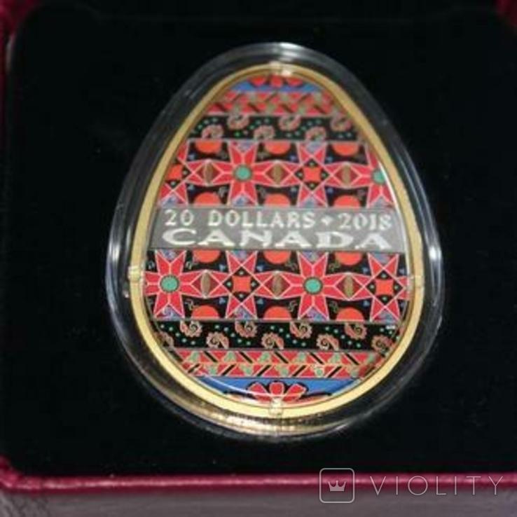 Українська писанка. Лот з трьох монет, фото №4
