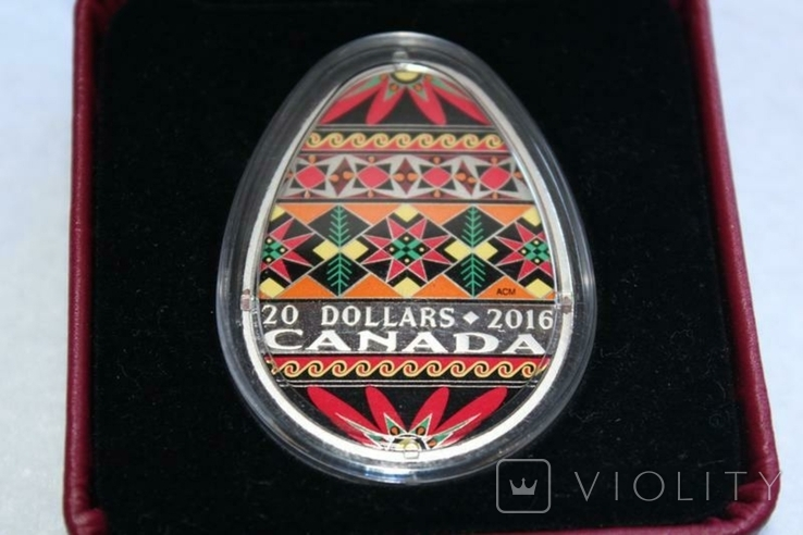 Українська писанка. Лот з трьох монет, фото №6