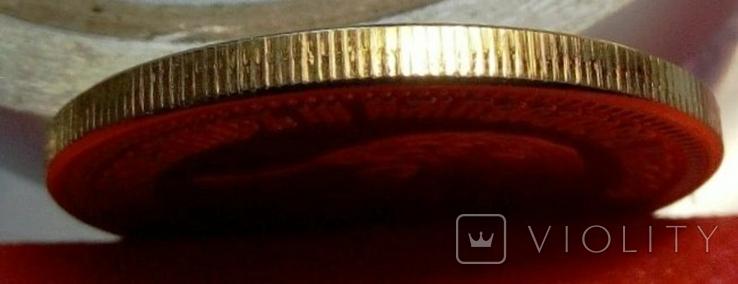 10 рублів золотом 1886 року . Копія -   позолота 999, фото №4