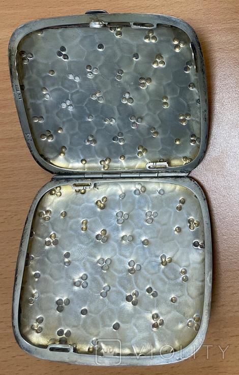 Серебряная пудреница 800 пробы, фото №5