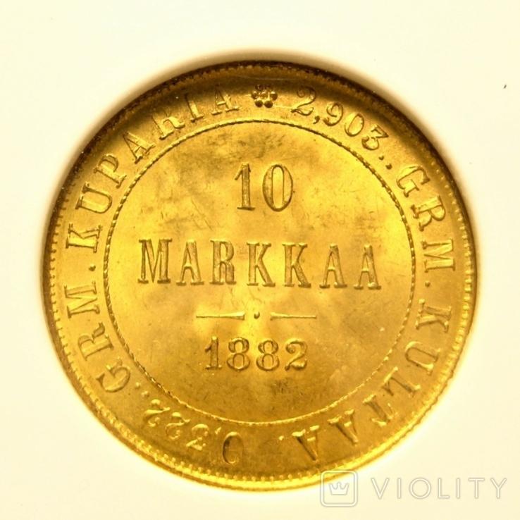Русско-Финские 10 марок 1882 г. NGC MS65