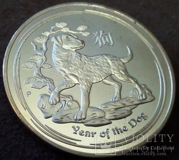 5 доларів   2018  року Австралія  /позолота 9999/ копія золотої, фото №2