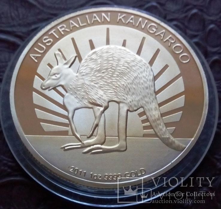 100  доларів  2011  року Австралія /поЗОЛОТА 999/ копія, фото №3