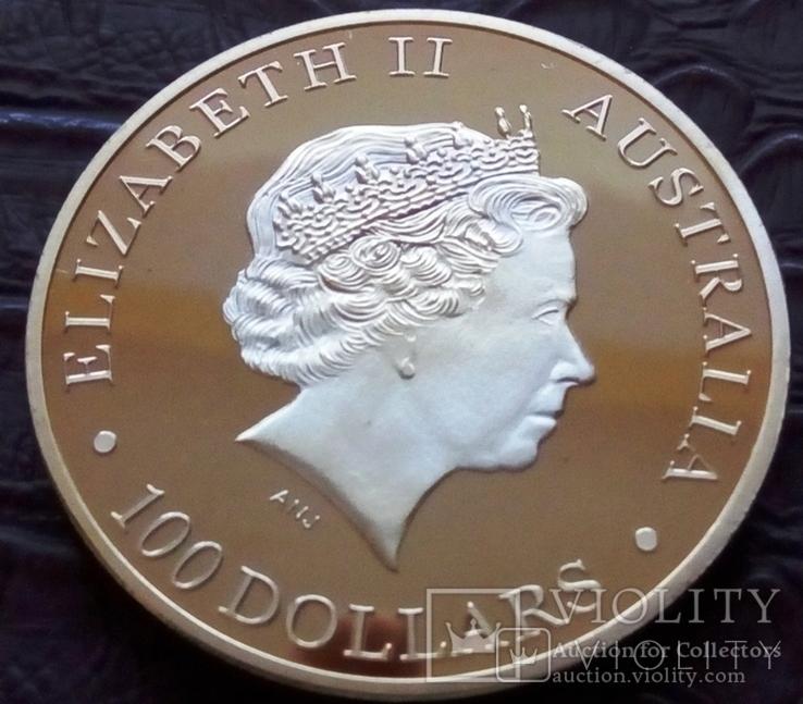 100  доларів  2011  року Австралія /поЗОЛОТА 999/ копія, фото №2