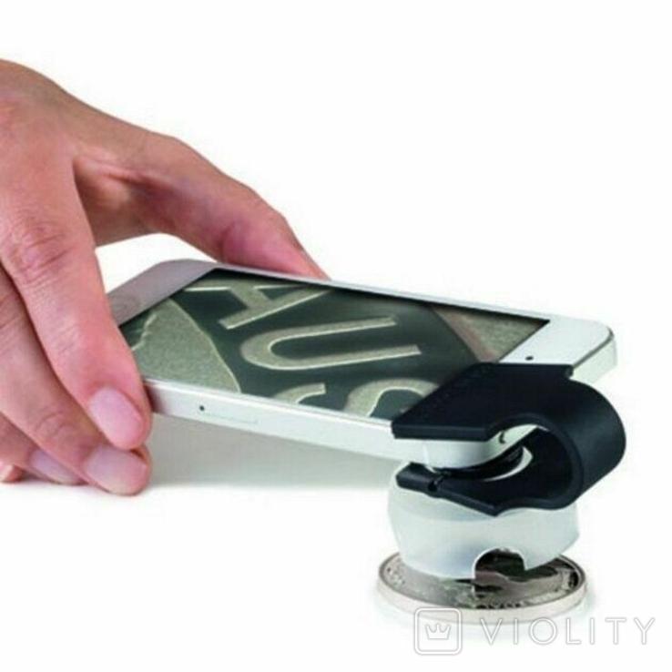 Макролинза для смартфона с увеличением 60 крат. LEUCHTTURM. 345620, фото №2