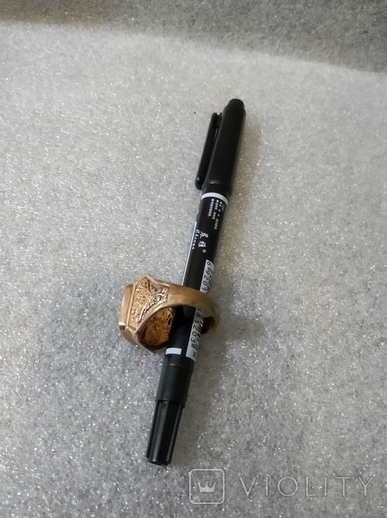 Кольцо с камнем без пробы, фото №7