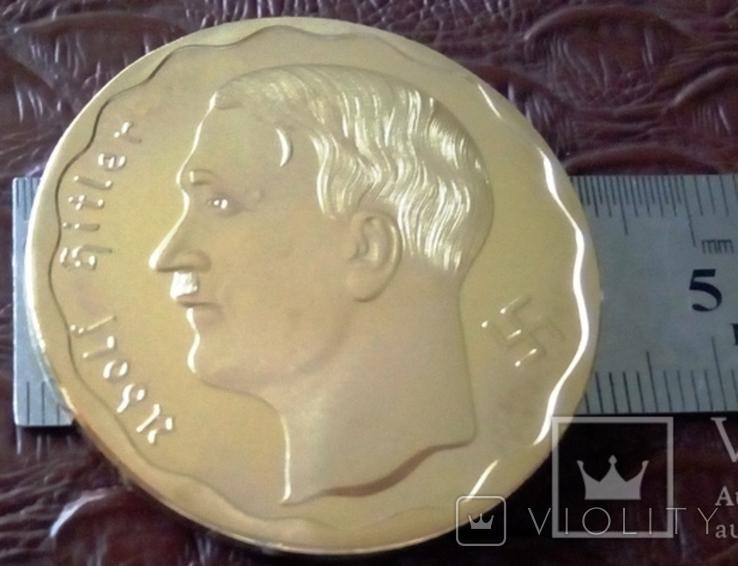 100 рейхмарок 1933 року Німеччина -копія золотої /позолота 999/, фото №3