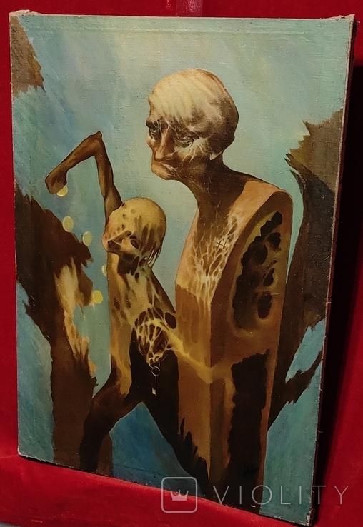 """""""Золотой ключик"""",В.Голыный,1989 г.,х/м., фото №8"""