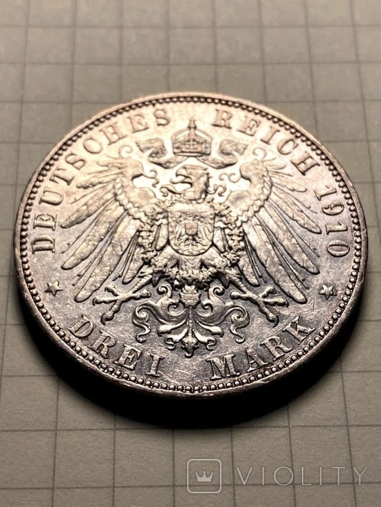 Три марки 1910 (Drei mark 1910 Sachsen), фото №4