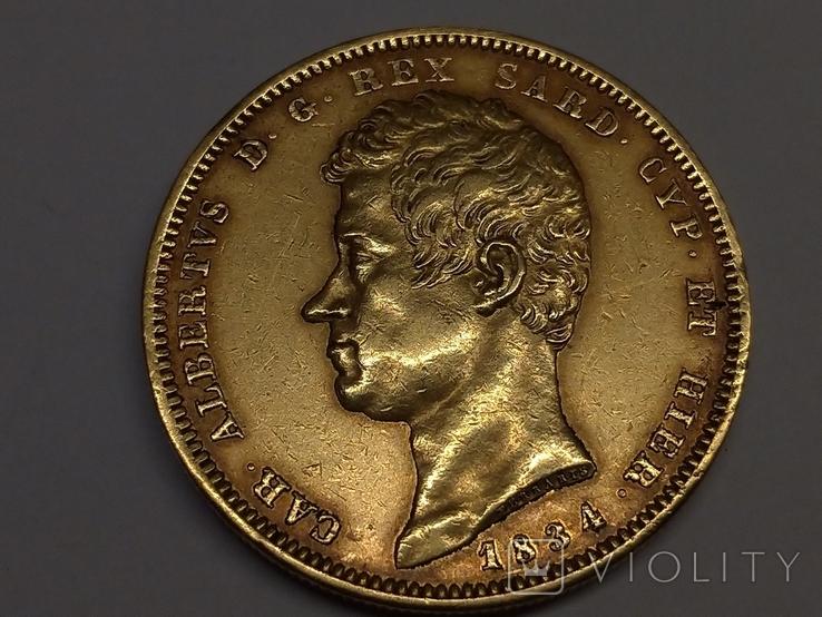 100 Лир. Сардиния 1834г., м.д. Турин, фото №3