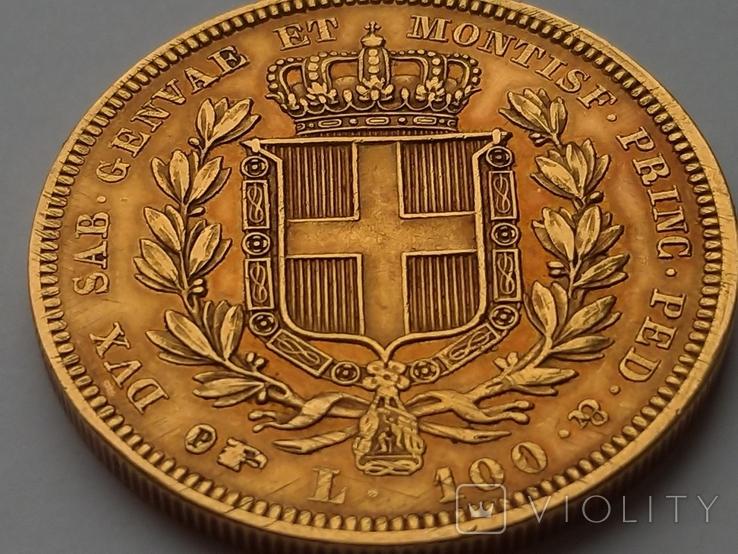 100 Лир. Сардиния 1834г., м.д. Турин, фото №4