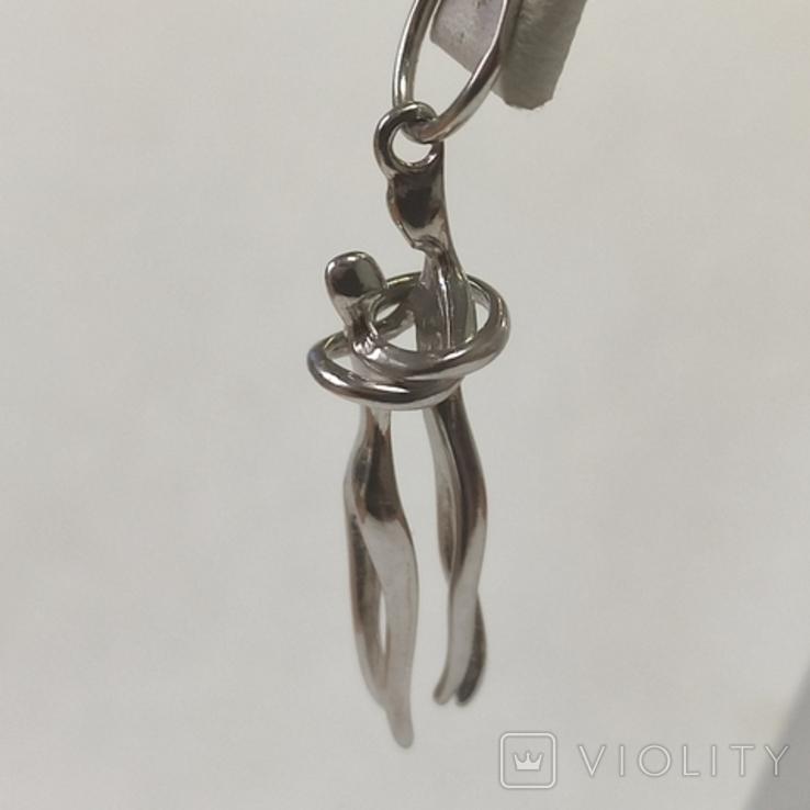 Влюбленные. Кулон из серебра. Родированное., фото №7