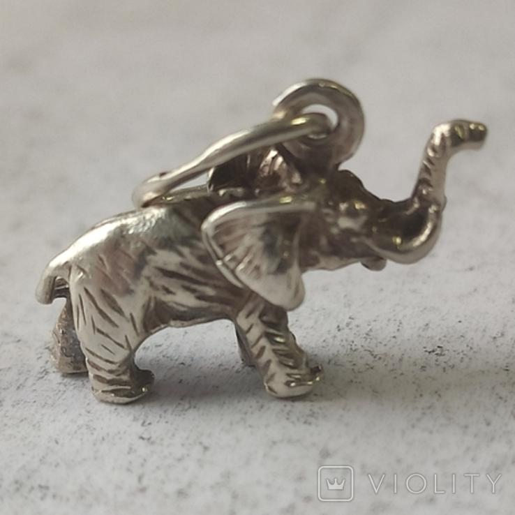 Слон. Подвеска. Серебро., фото №3