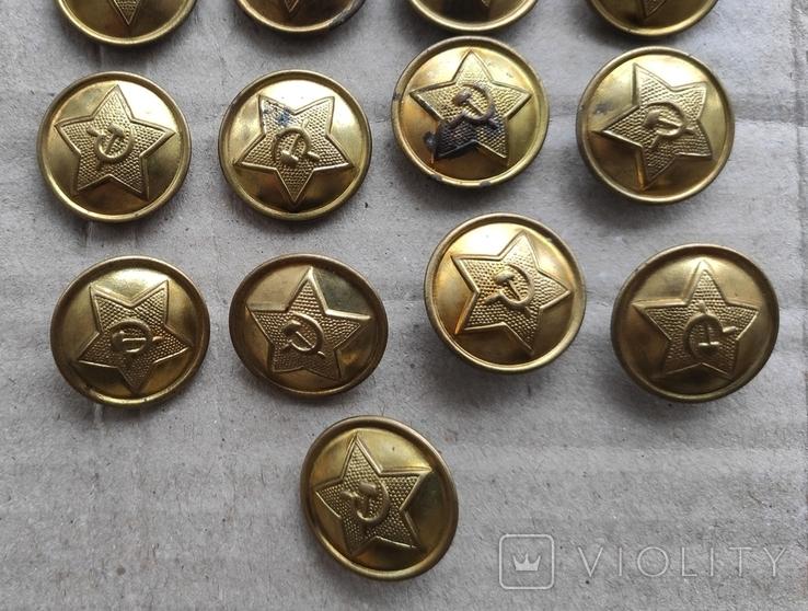Пуговицы советские 40х годов (17шт, 21.5мм), фото №4