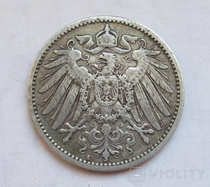 1 марка 1904 г. (А), Германия, серебро, фото №3