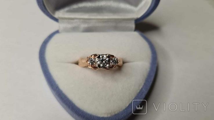 Золотое кольцо и серьги., фото №3