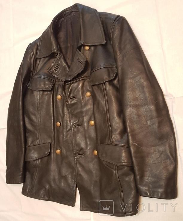 Кожаная куртка полицейского ФРГ 1980 г, фото №4