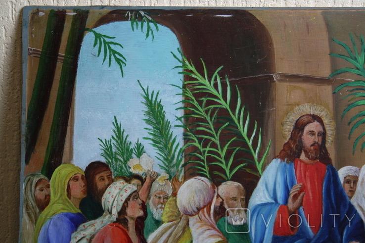Вход Иисуса  в Иерусалим 70,5х52   1943г., фото №6