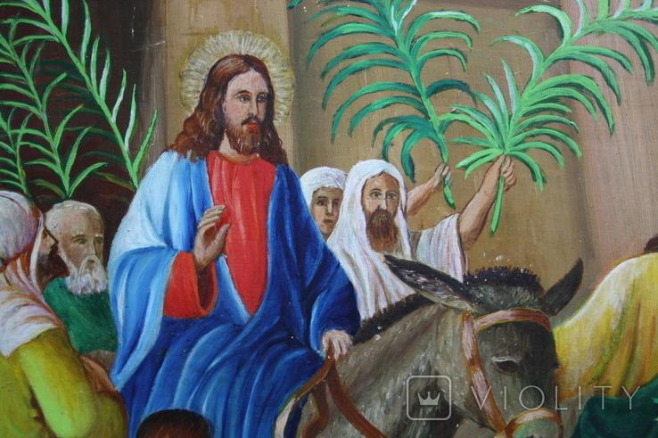 Вход Иисуса  в Иерусалим 70,5х52   1943г., фото №7