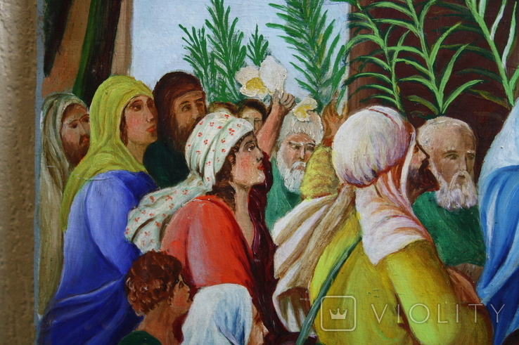 Вход Иисуса  в Иерусалим 70,5х52   1943г., фото №10