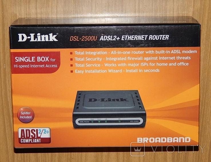Модем-маршрутизатор D-Link DSL-2500U, фото №2