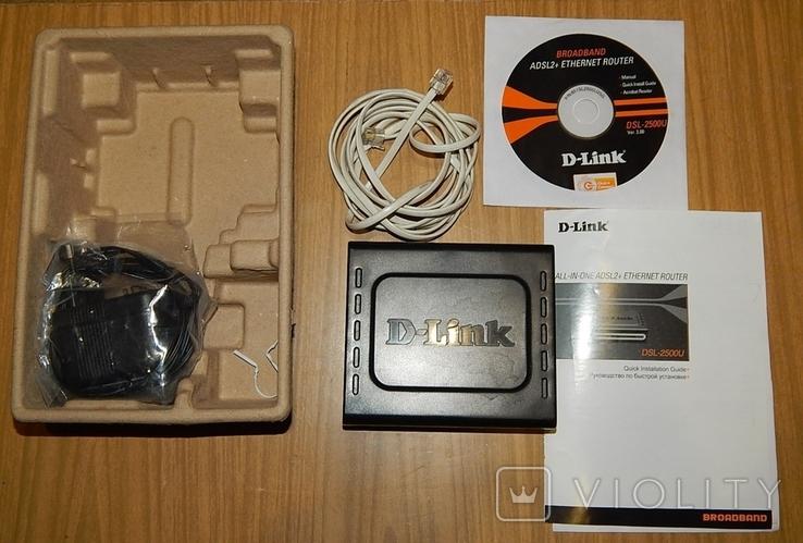Модем-маршрутизатор D-Link DSL-2500U, фото №7