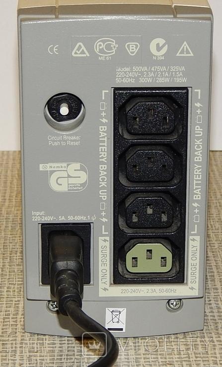 Источник бесперебойного питания APC BACK-UPS CS 500, фото №5