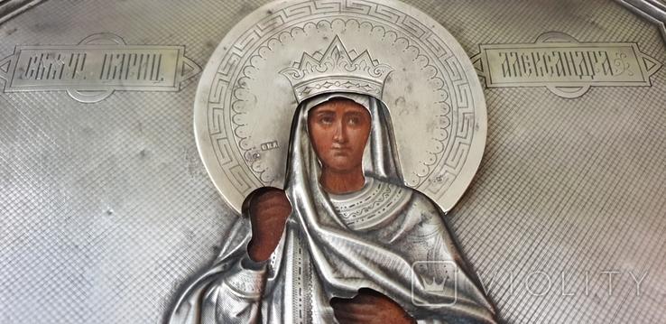 Икона Св. Царица Александра, фото №7