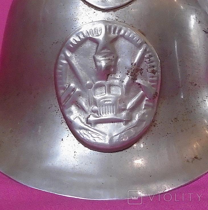 Пожарная каска с  наверно никелированная, фото №9