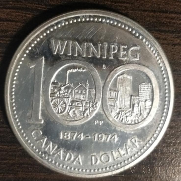 Канада,1 доллар,100 лет Виннипегу, фото №2