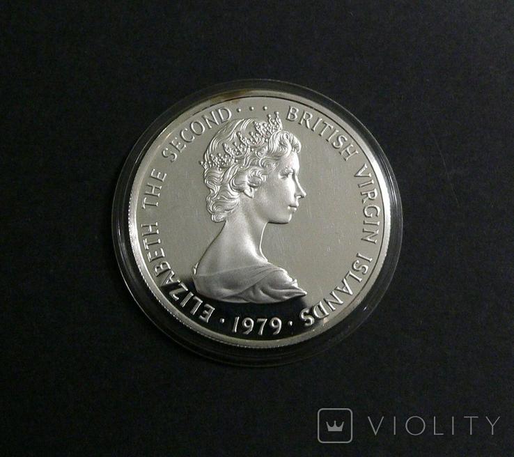 Британские Виргинские Острова 5 долларов 1979 - Белая Цапля., фото №5