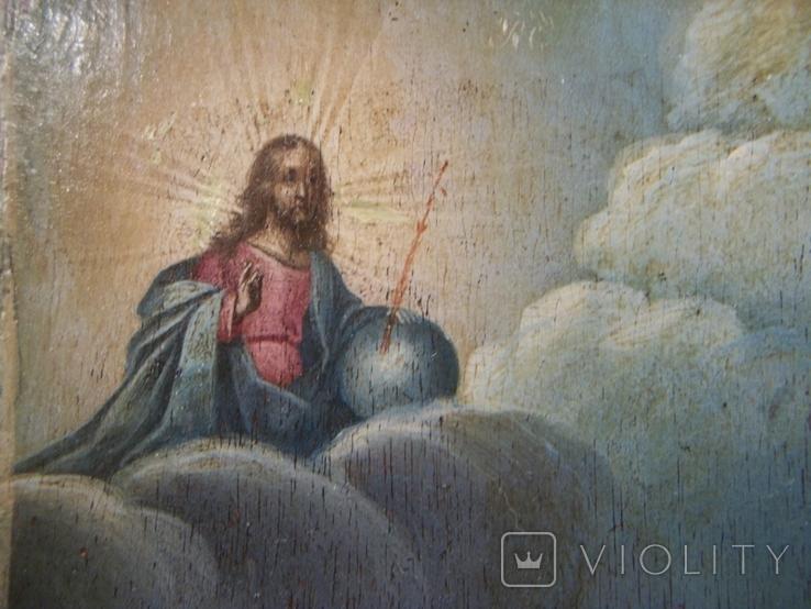 21Я16 Икона Преподобный Василий постник, Господь Вседержитель. Дерево, фото №7