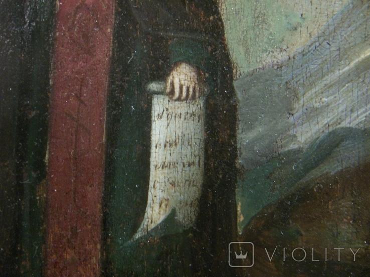 21Я16 Икона Преподобный Василий постник, Господь Вседержитель. Дерево, фото №9