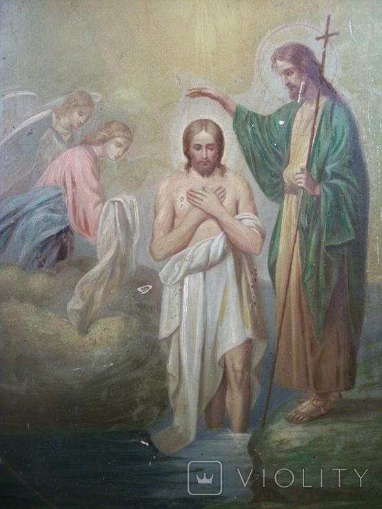 21Я18 Икона Крещение Господне. Дерево, письмо, фото №2