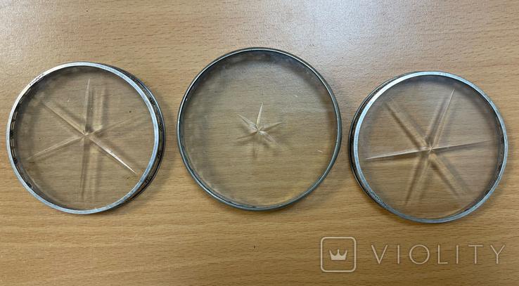 Набор серебряных пепельниц пробы Sterling, фото №5