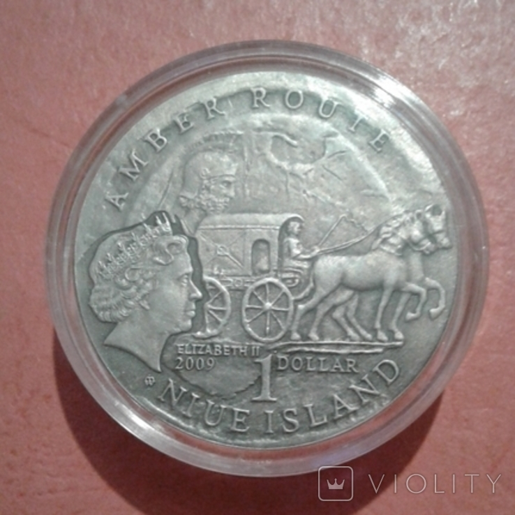 "1 доллар 2009 года Ниуэ ""Янтарный путь - Эльблонг"", фото №2"