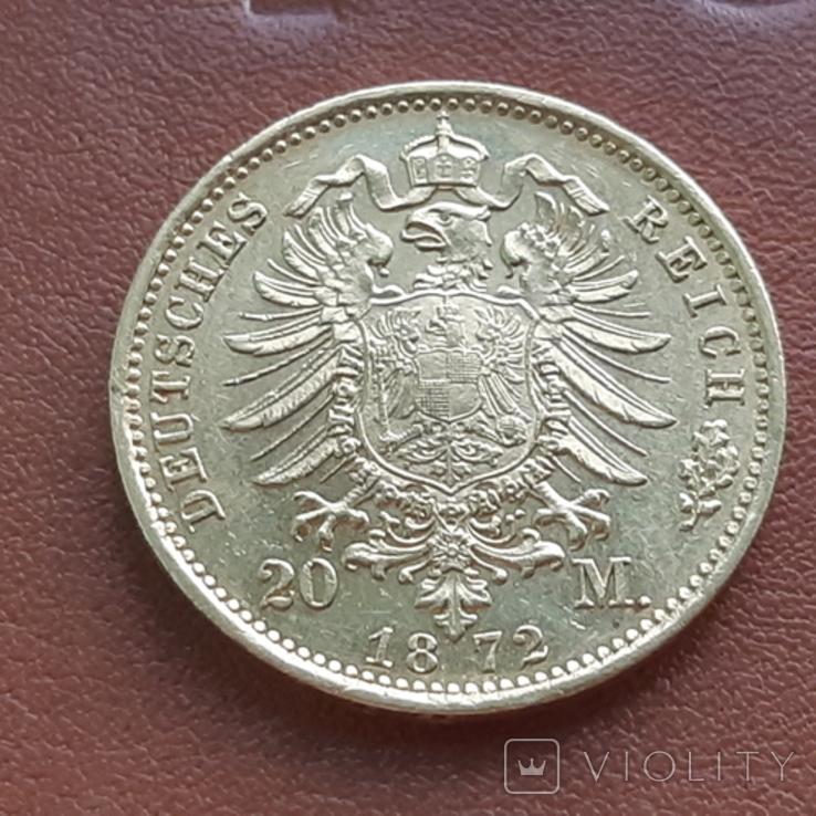 20 марок 1872 Пруссия, фото №5