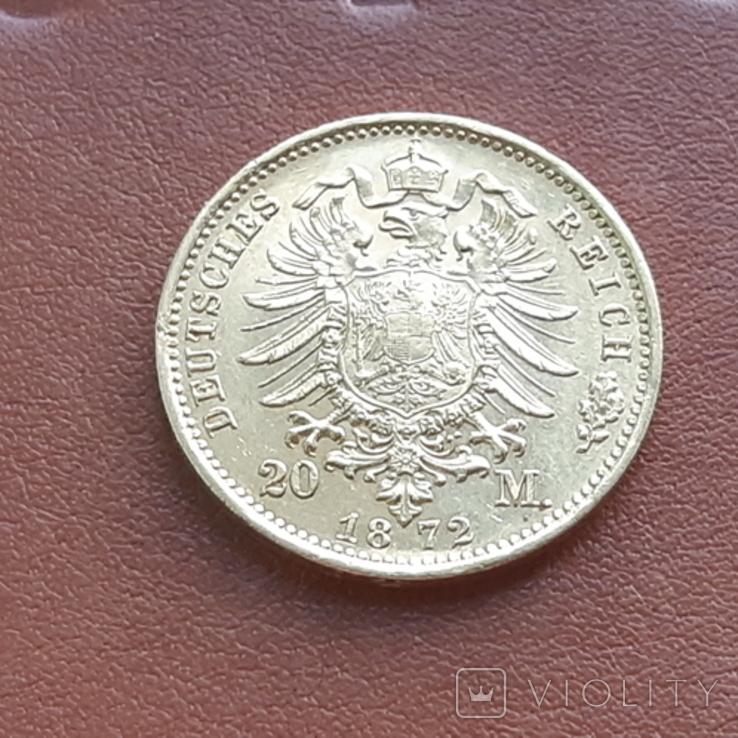 20 марок 1872 Пруссия, фото №6