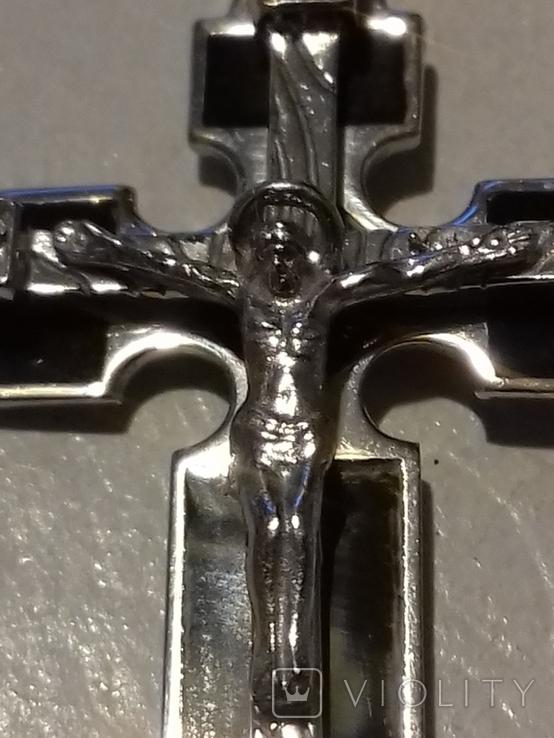 Крестик серебро с эмалями,925пр., фото №4