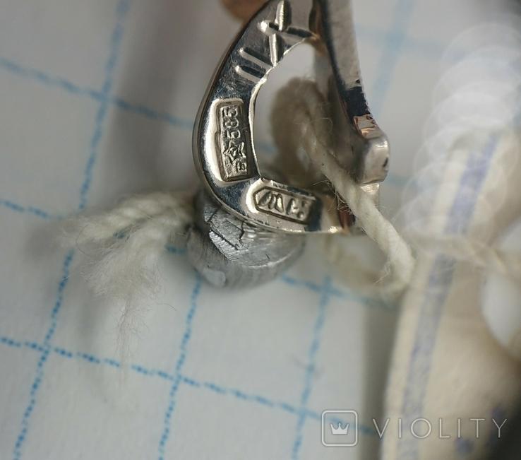 Новый (СССР 1991 г.) золотой кулон с бриллиантами, фото №3