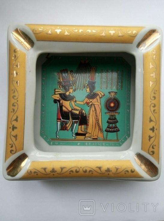 Пепельница Египет , фарфор , позолота , клеймо ., фото №2