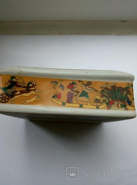Пепельница Египет , фарфор , позолота , клеймо ., фото №5