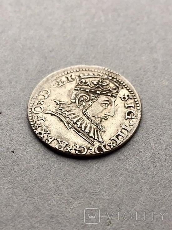 3 гроша Сигизмунд III Ваза 1591 года, фото №6