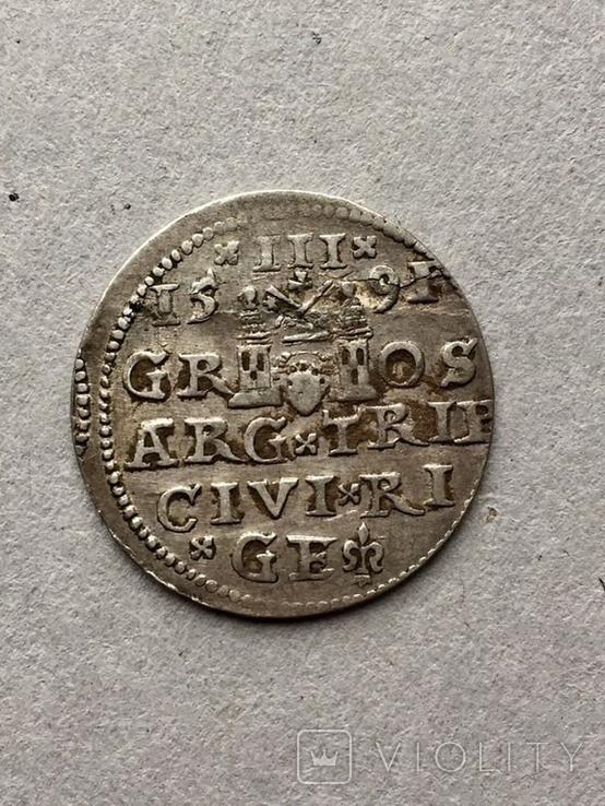 3 гроша Сигизмунд III Ваза 1591 года, фото №8