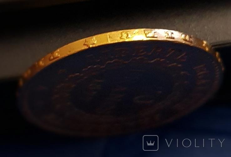 20 франков 1877 год, Франция, золото 6,45 грамм 900, фото №7