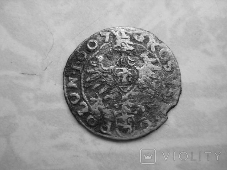 Грош Сигизмунда 1607г, фото №3