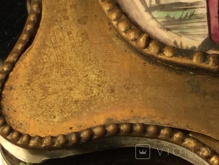 Икона Финифть Панагия 19 век Антоний Печерский, фото №4