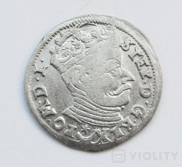 3 гроша 1582г, Стефан Баторий, г Вильно, R, фото №2