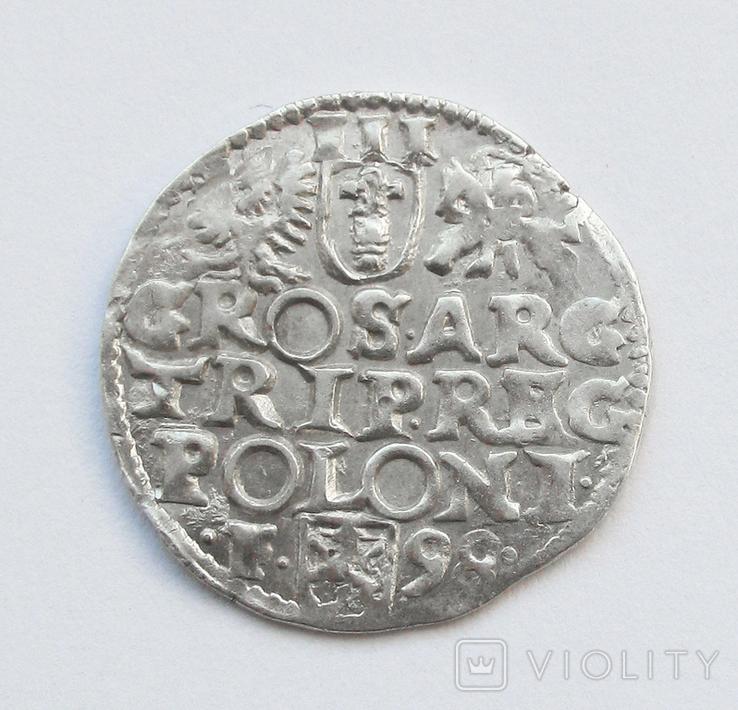3 гроша 1598г, Сигизмунд III , г. Всхов R, фото №3