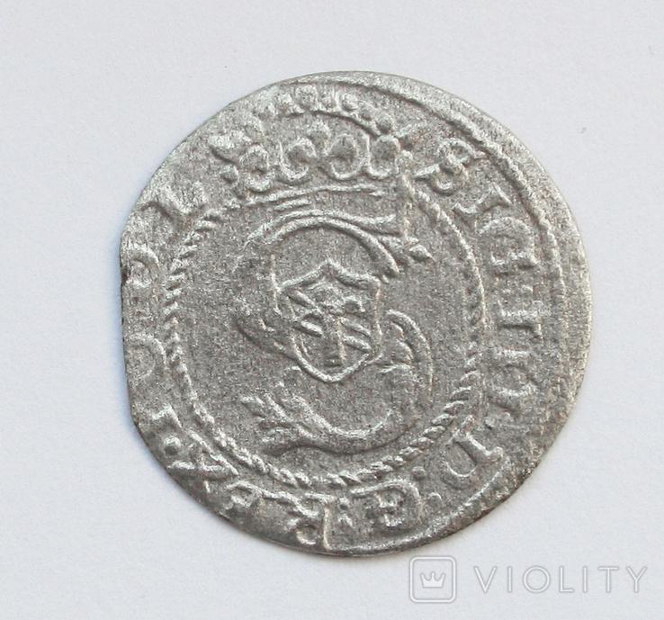 Солид 1593г, Сигизмунд III , г. Рига, фото №2